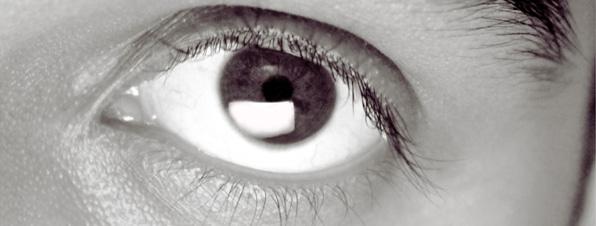 Ojo escaneando pantalla