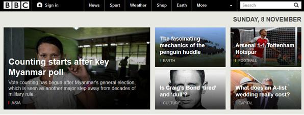 Titulares de la BBC